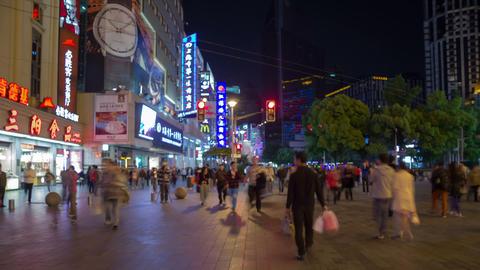 Nanning street night timelapse Stock Video Footage
