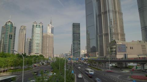 Shanghai overpas hyperlapse Stock Video Footage