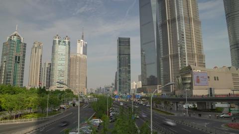 Shanghai overpas hyperlapse Footage