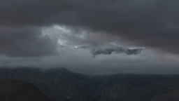 Dark clouds over mountains Footage
