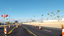 VID 21 Driving Through Road Construction HD stock footage