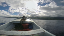 View over speedboat bow Footage