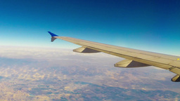 View Out Airplane Window stock footage