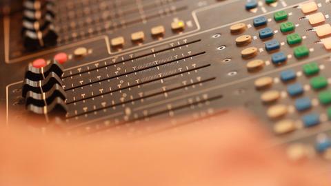 mixing board in recording studio Footage