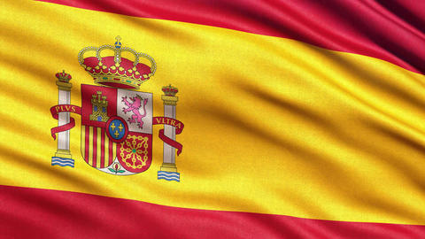 4K Flag of Spain seamless loop Animation