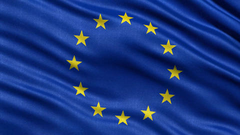 4K European Union Flag Seamless Loop Ultra-HD stock footage