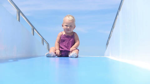 baby deck ship ocean Footage