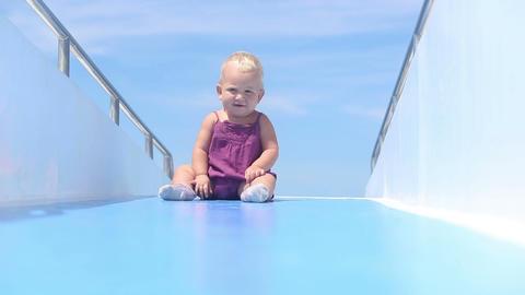 Baby Deck Ship Ocean stock footage
