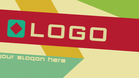 Retro Ribbon Fast Logo Sting Animation After Effects Template