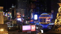 Las Vegas 1 Strip Time-Lapse stock footage