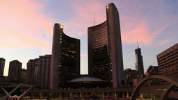 Toronto City Hall Sunset Timelapse 1 stock footage