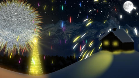 New Year's Eve fireworks Animation