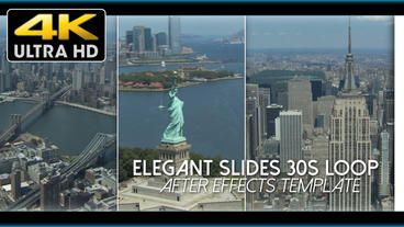 Elegant Slides 30s Loop 4 K - After Effects Template After Effects Template