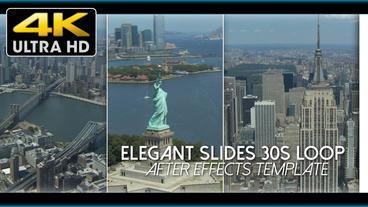 Elegant Slides 30s Loop 4 K stock footage