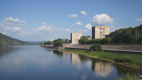 Divnogorsk Yenisei summertime view Footage