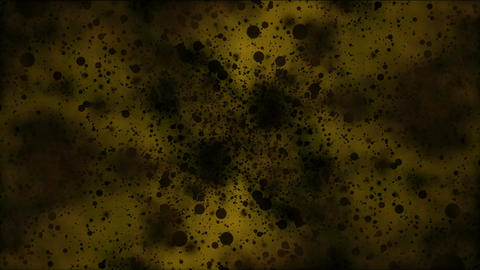 Travel through Black Particles - Loop Yellow Stock Video Footage