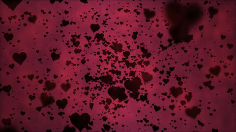 Black Heart Particles - Loop 4K stock footage