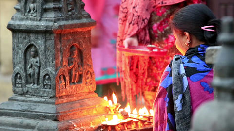 KATHMANDU, NEPAL - APRIL 5, 2014: Nepalese women a Stock Video Footage