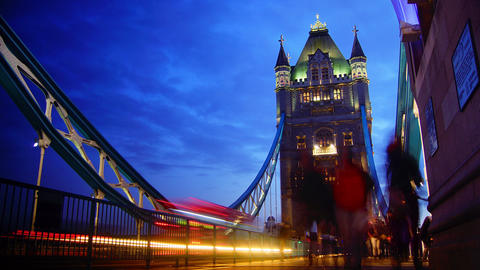 ondon ,England-circa 2014: Rush hour in London, vi Stock Video Footage