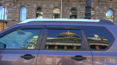 St. isaac's cathedral. The reflection in the glass Footage