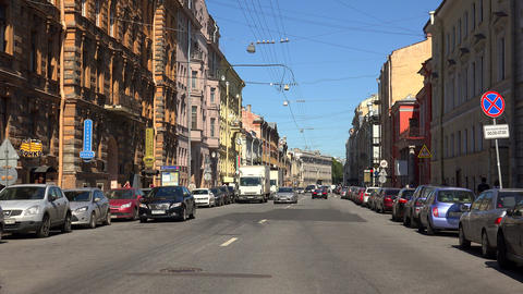 Millionnaya street. Saint-Petersburg. 4K Footage