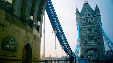 ondon ,England-circa 2014: Rush hour in London, vi Stock Video Footage