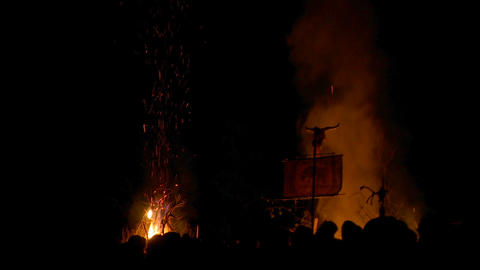 Beltane festival 02 Stock Video Footage