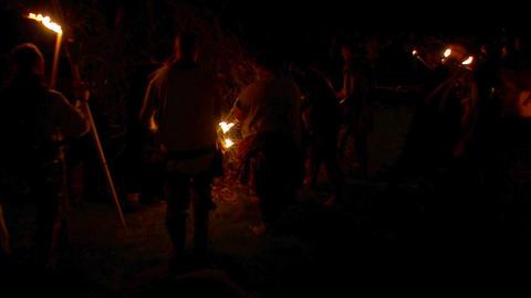Beltane festival bonfire 01 Stock Video Footage