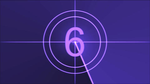 Movie Countdown Animation - Purple Animation