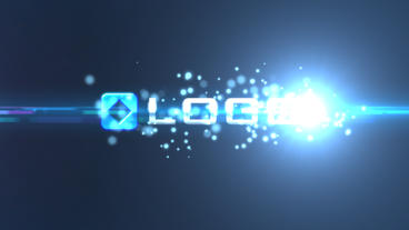 Blue Bokeh Shattered Logo Intro After Effects Template