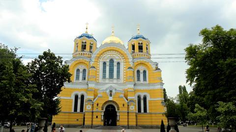 Vladimir Cathedral in Kyiv Footage