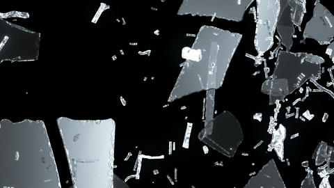 Demolished and Shattered glass with slow motion. A Animation