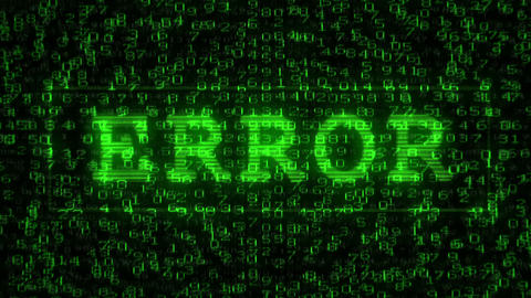 Error Text - Digital Data Code Matrix stock footage