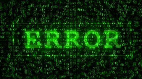 Error Text - Digital Data Code Matrix CG動画