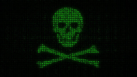 Cyber Piracy - Digital Data Code Matrix Animation