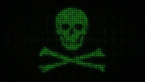 Cyber Piracy - Digital Data Code Matrix Animation