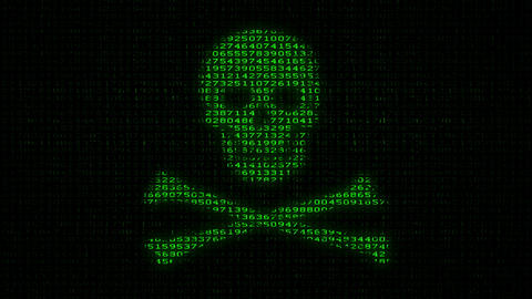 Cyber Piracy - Digital Data Code Matrix Stock Video Footage