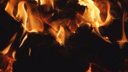 Burning coal in a stove Footage