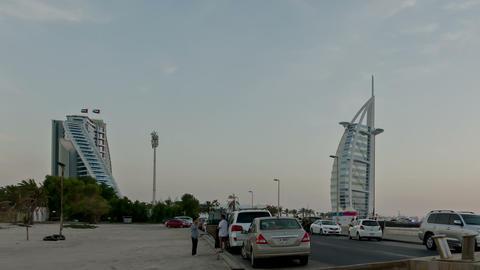 Burj Al Arab Time lapse Stock Video Footage