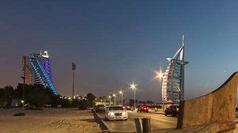 Burj Al Arab Time Lapse stock footage