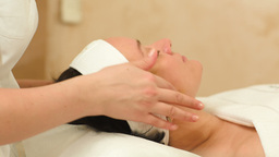 Professional facial massage at beauty spa Footage