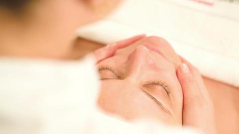 Facial procedure at beauty treatment salon Footage