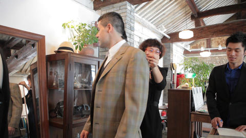 Men's Fashion Boutique Business in China Footage