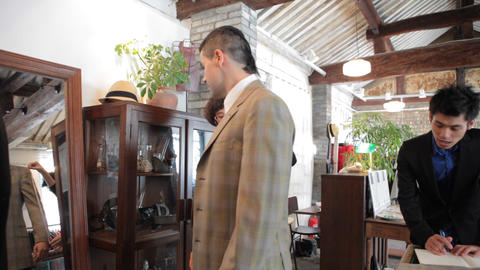 Men's Fashion Boutique Business in China Stock Video Footage