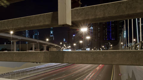Dubai Trade Centre Sheikh Zayed Road Stock Video Footage