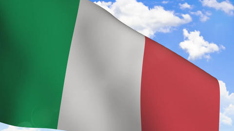 Waving Flag of Italy Animation