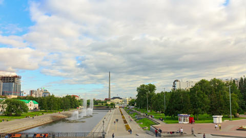 Panarama embankment. Time Lapse Footage