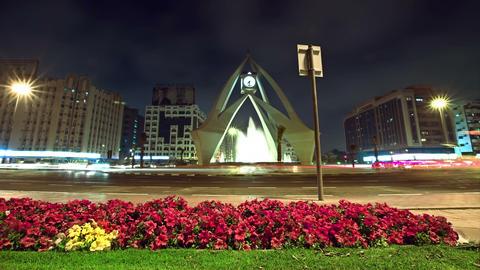 Deira Clock Tower Dubai stock footage