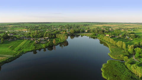 Village with a bird's-eye view Footage