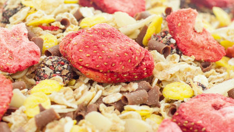 Mixed muesli Footage